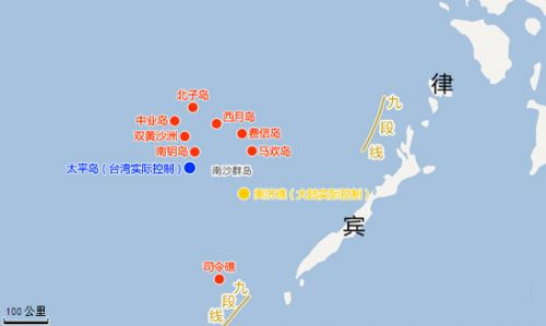 南海局势地图 美国权威地图表明南海诸岛为中国领土