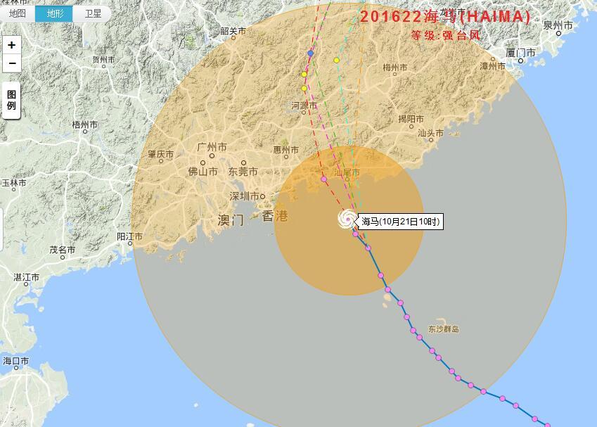 宁波天气预报 台风实时路径系统,宁波受海马影响