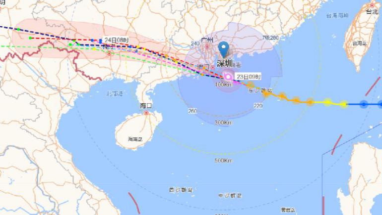 台风路径实时发布系统 台风天鸽已登陆广东 实时路径图查询图片