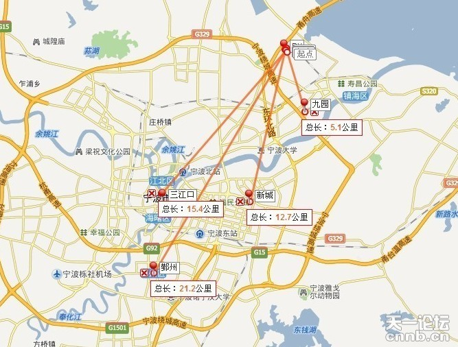 手繪鎮海城區地圖